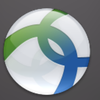 Cisco Any Connect icon: a white circle with intertwined blue green ribbons.
